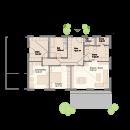 Bungalow 132 - Erdgeschoss (alternative)