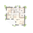 Bungalow 154 - Erdgeschoss