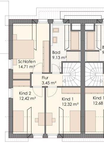 Grundriss Endhaus Obergeschoss