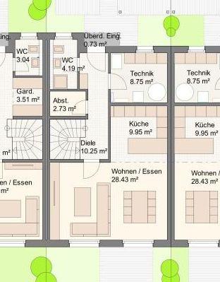 Grundriss Mittelhaus Erdgeschoss