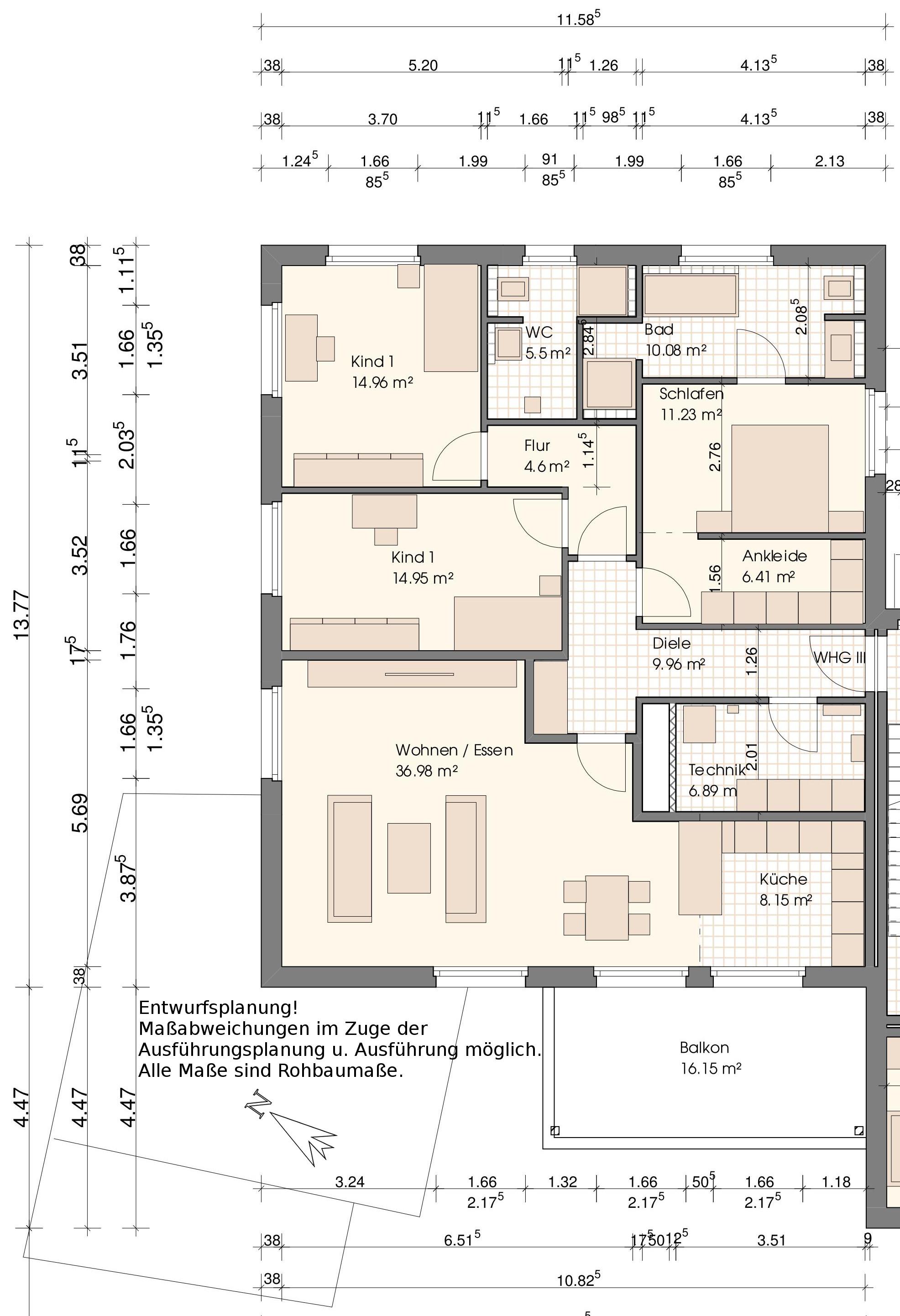 Grundriss Wohnung III