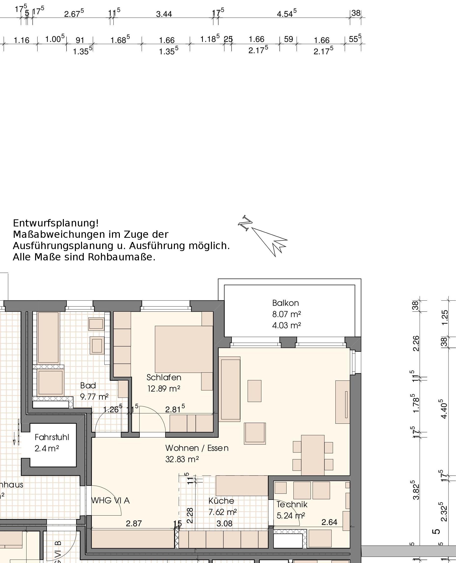Grundriss Wohnung VI A