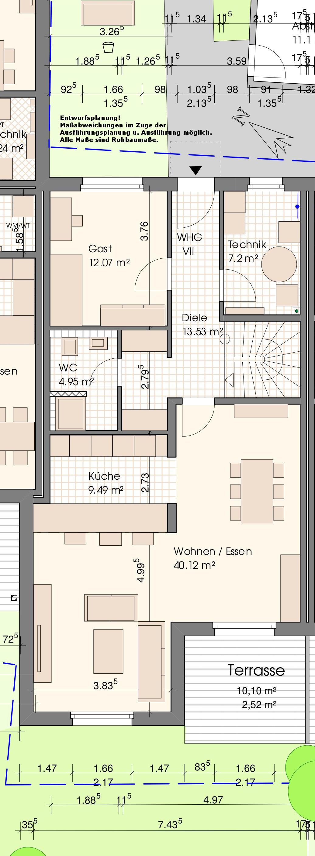Grundriss Wohnung VII-Erdgeschoss
