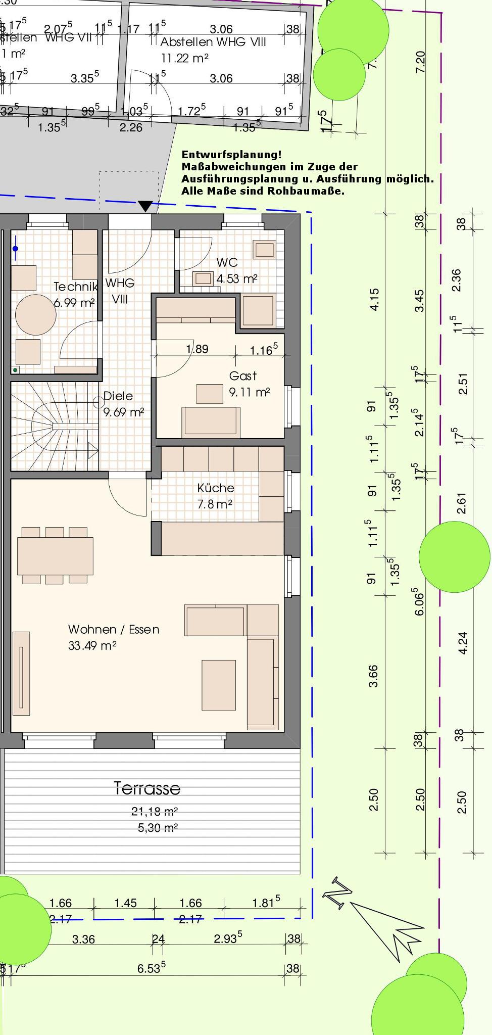 Grundriss Wohnung VIII-Erdgeschoss