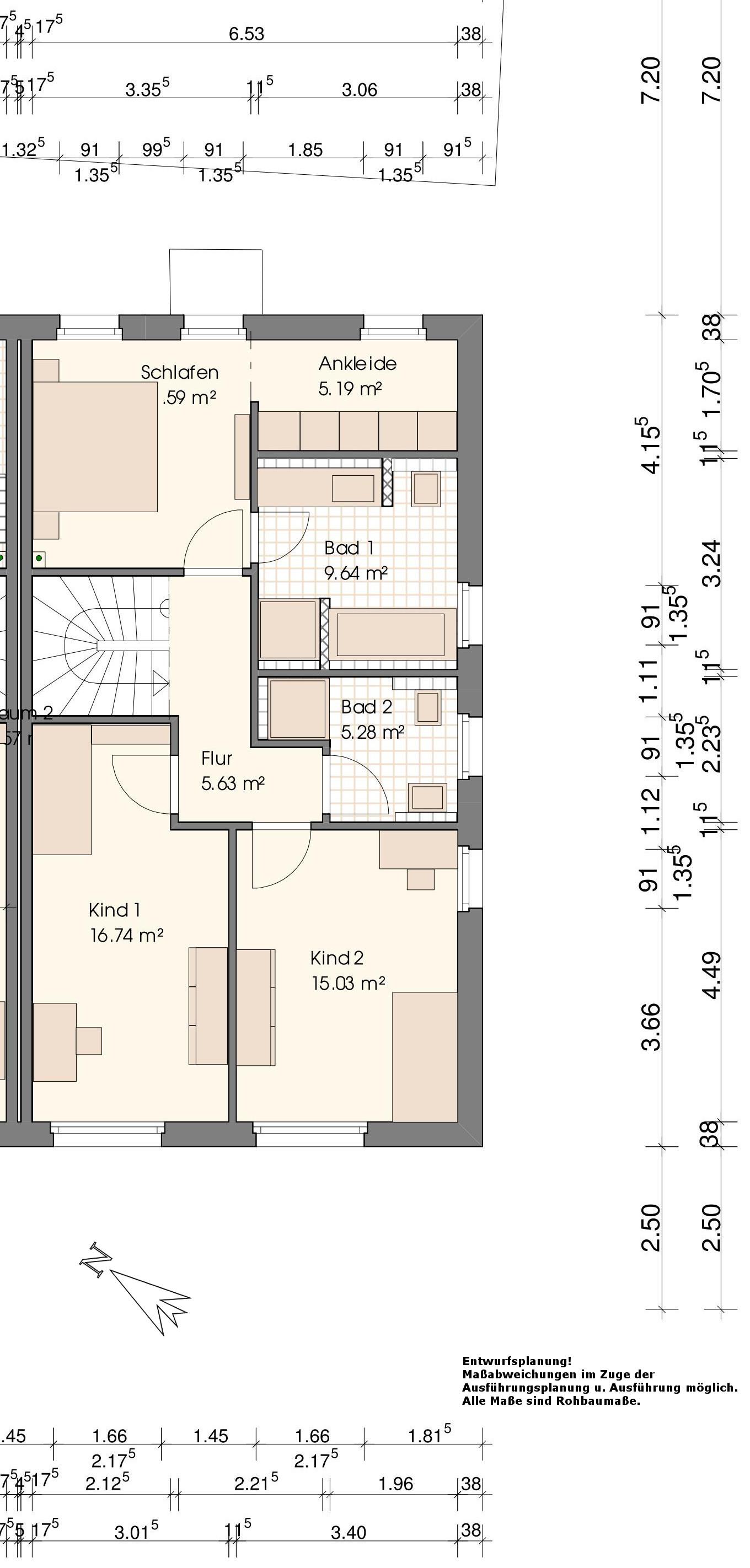 Grundriss Wohnung VIII-Obergeschoss