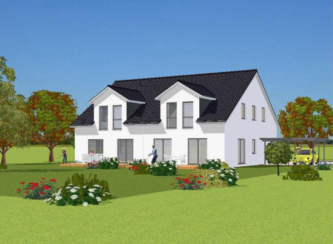 Ansicht-Garten Doppelhaus