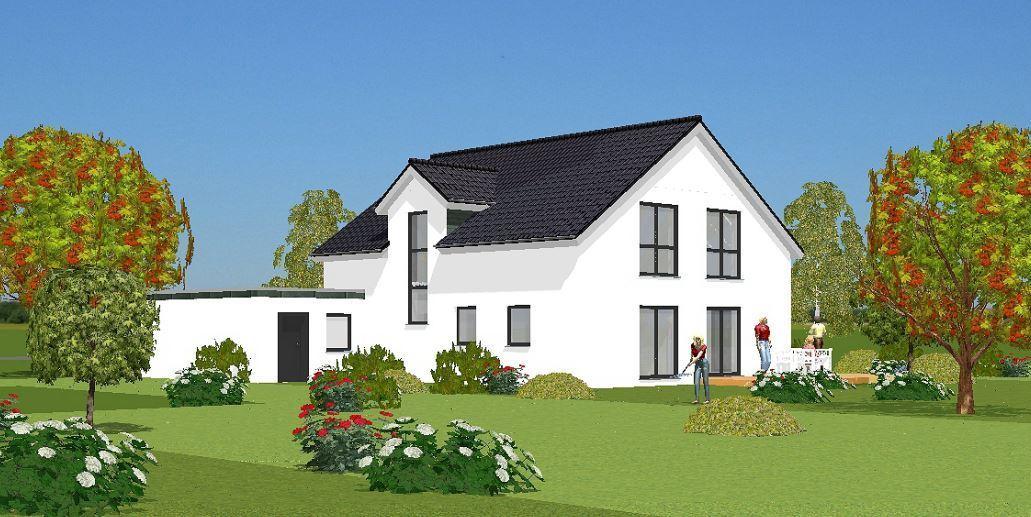 Ansicht-Garten Einfamilienhaus